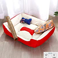 ペットベッド 犬猫用 犬用ベッドクッション ペットマット ペットハウス ペットソファ ねこハウス ペットクッション 室内用 洗える 暖かい 折りたたみ ふんわり 肌触り 保温布団 ペット用品 大中小型犬/猫用