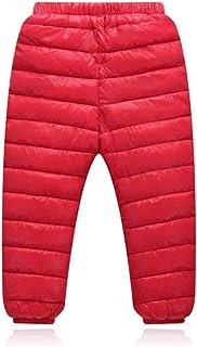 Invierno cálido niños Abajo Pantalones de algodón niñas Abajo Pantalones a Prueba de Viento Nieve Pantalones