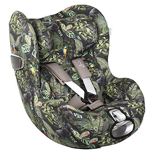 Cybex Sirona Z Bezug für Babyschale Grün Dschungelmuster Perfekte Passform BIOLOGISCHE Baumwolle Schweißabsorbierend und weich für Ihr Baby