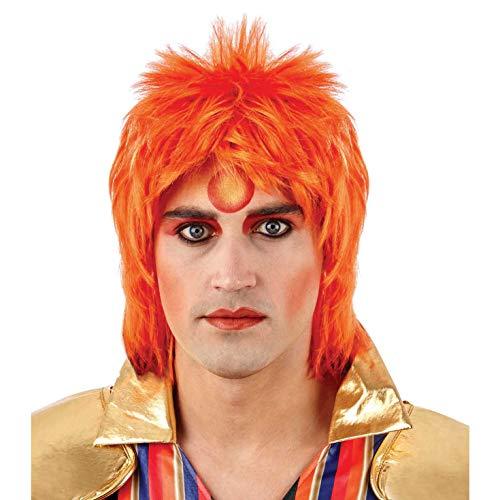 Fun Shack Orange Glam Rock Perücke für Damen und Herren - Einheitsgröße