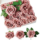 NEVISI Dusty Rose Artificial Flowers Fake...