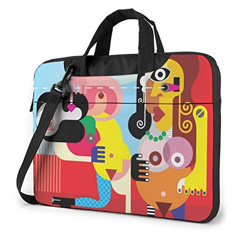 Two Nude Dancing Art Picasso Laptop Carrying Case Water-Repellent Fabric Business Casual or School