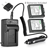 Battery (2-Pack) and Charger for Panasonic LUMIX DMC-FZ15, DMC-FZ20 Digital Camera