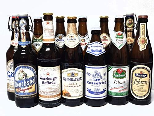 Bier Box Pils aus Franken I 12 verschiedene Fränkische Biere I 12 Flaschen I Bierprobe I Geschenk Idee I Männer Geschenk I Bier Tasting