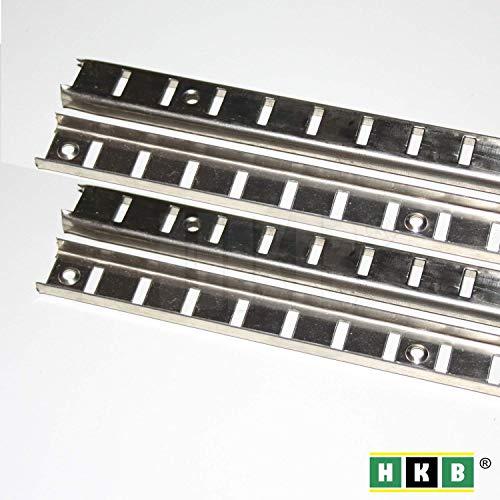 Hettich 4 Stück Bodenträgerschiene 16mmVari Fachbodenträger Möbelbodenträger Löffelbodenträger Vari