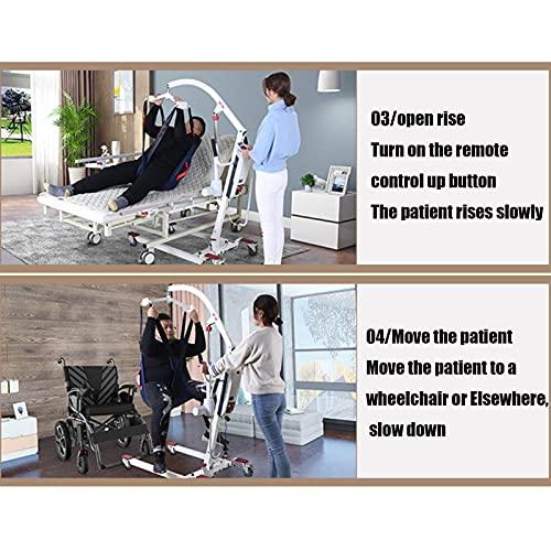 51WUt DzR+S. SL500  - JFNV-Grúa Eléctrica para Elevación Y Traslado De Pacientes,Fácil De Usar para Minusválidos, Personas Mayores,Soporta 200Kg