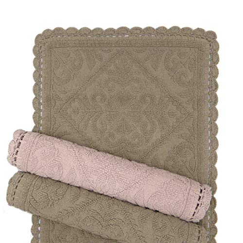 N.di S. Tappeto Bagno Shabby Chic Jacquard Collection 60x95 Colore Marrone