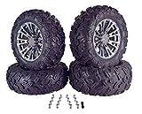 MASSFX SL 26x9-14 26x11-14 Tire w/MASSFX QUAKE 14x7 4/156 Rims Wheel & Tire Kit 26x9x14 26x11x14 with Lug nuts (Gun Metal)