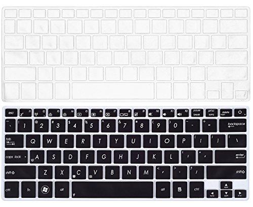 2PCS Keyboard Cover for ASUS UX301LA UX302LG UX303LA UX303LB UX303LN UX303UA UX303UB UX305 UX305CA UX305FA UX305LA UX306UA UX330CA UX330UA UX42 Q302LA Q302UA Q304UA Q324UA, Black&Clear