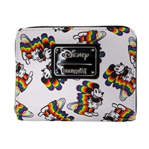 Loungefly x Disney Rainbow Mickey Mouse Small Zip-Around Wallet