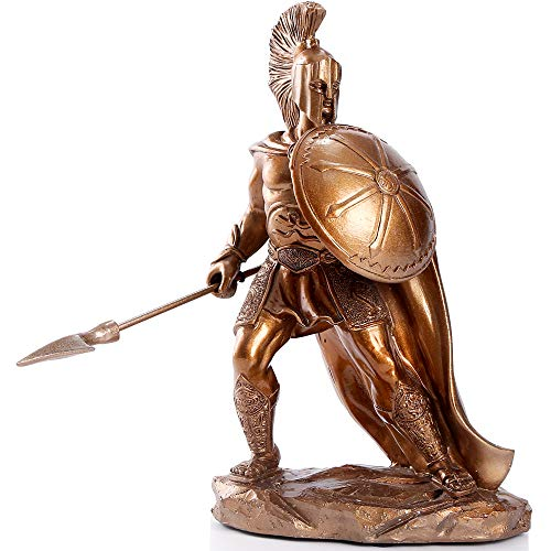 H&W Spartan Warriors Statues, Hero of Greek, Resin Soldier Sculptural Statue, Great Gift for The Man【A】