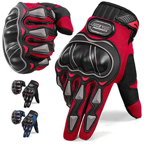Luvas de motocicleta masculinas com tela sensível ao toque Mountain Dirt Bike Luvas de dedo completo Corridas de estrada, ciclismo, escalada