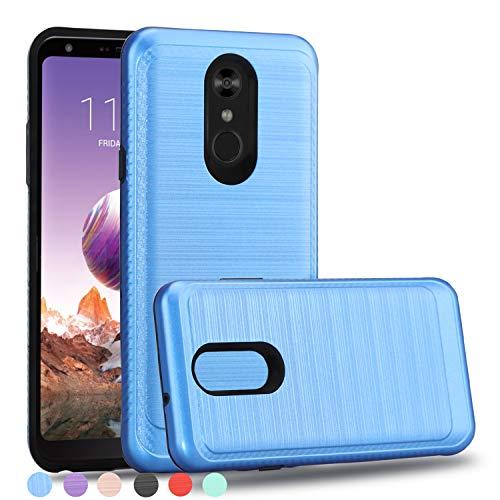 Wtiaw:LG Stylo 4 Case,LG Stylo 4+ Plus Case,LG Q Stylus Case,LG Stylo 4+ Case,LG Stylo 4 Plus Case,LG Stylo 4/Q Stylus/Stylo 4 Plus Phone Cases,Brushed Metal Texture Case for LG Stylo4-HL Blue