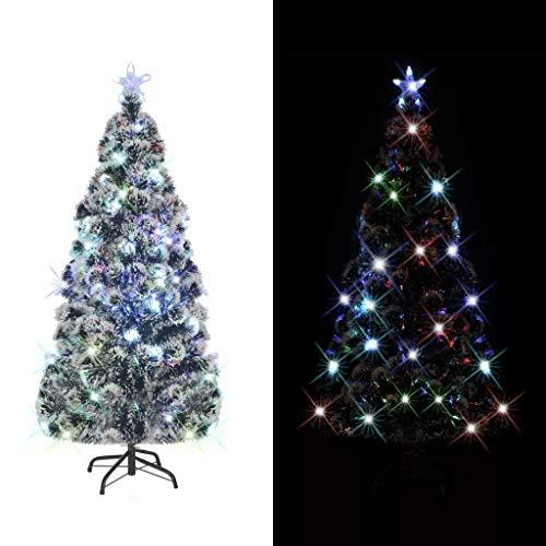vidaXL Árbol Artificial de Navidad Soporte de Acero Luces LED 180 cm 220 Ramas