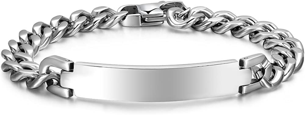 Mealguet El Paso Mall Jewelry Free Challenge the lowest price of Japan ☆ Engraving-Unisex Polished Stainless Steel