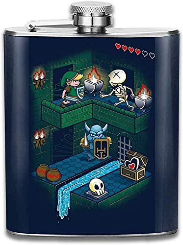 Zelda Link Through The Dungeon Druck Flachmann Pocket Bottle Flagon Portable Edelstahl Flagon 7OZ