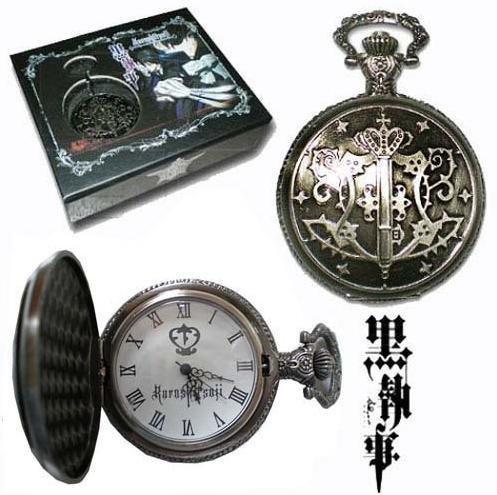 Kuroshitsuji Black Butler Sebastian Anime de montre de poche