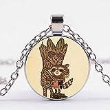 VAWAA Lovely I'm Groot Collar Guardianes de la Galaxia árbol Hombre Cohete cómic Impreso Vidrio...