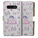 DeinDesign Étui Compatible avec Samsung Galaxy S10 Plus Étui Folio Étui magnétique Minnie Mouse...