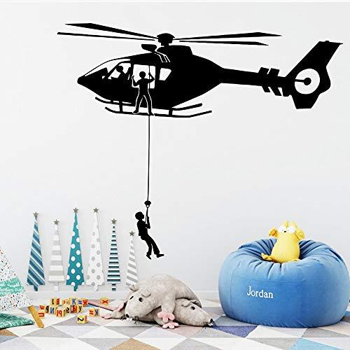 hetingyue decoratie voor kinderkamer, cartoon, Air Force helikopter, vinyl, afneembaar, voor thuis, muurstickers, muurstickers, behang