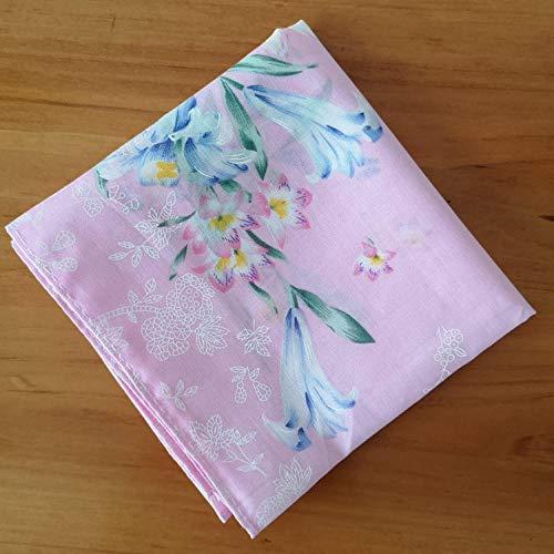Damen-Taschentuch mit Baumwolle, schweißabsorbierendem Taschentuch, romantischem Abschlussgeschenk, antikem kleinen quadratischen Schal-Lilien-Puder