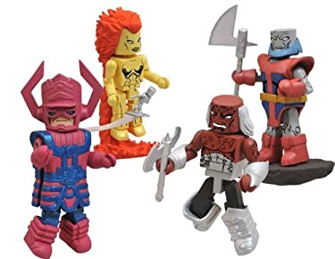 Marvel Minimates Fan Choice Exclusive 4Pack Heralds of Galactus Galactus, Nova, Morg Terrax