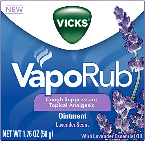 Vicks VapoRub Lavender Scented Chest Rub Ointment for Relief from Cough, Cold, Aches, and Pains, with Original Medicated Vicks Vapors, 1.76 oz