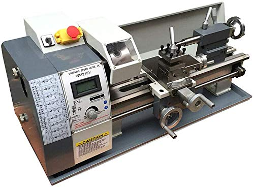 New INTBUYING Precision Metal Lathe Imperial/Metric Variable Speed Bench Lathe Brushless Motor Manua...
