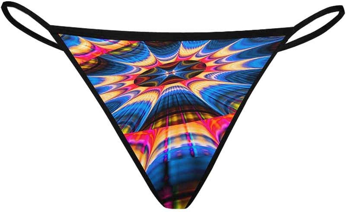 InterestPrint Women's Low Waist Dedication Ranking TOP4 Fract Underwear G-String Panties