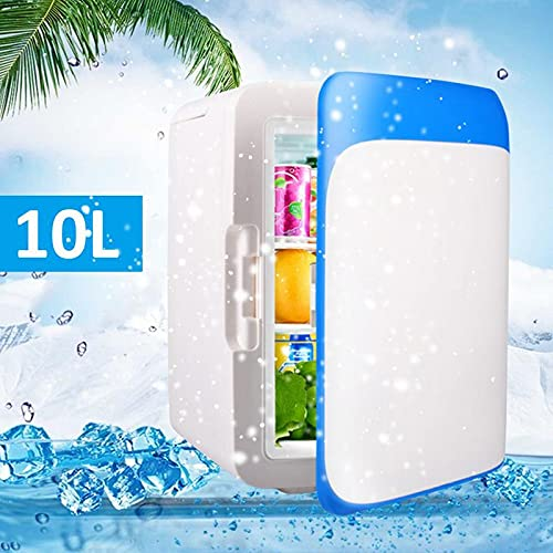 YUQIYU 10L Mini Mini refrigeración portátil Frigorífico refrigerador Frigorífico Congelador Frigorífico Travel Warmer para Auto Car Home Outdoor Picnic Travel (Color Name : Blue)