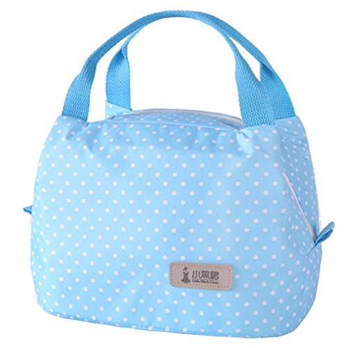 Sac mignon bagage sac à lunch mode simple sac isolé bento (bleu)