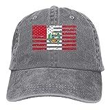 wwoman Hombres Mujeres Denim Jeans Ajustable Gorra de béisbol Peru American Flag Hiphop Cap