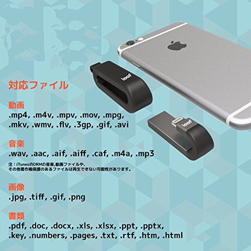 LeefiPhone・iPadLightning接続メモリUSB3.1iBRIDGE3AppleTouchID対応64GBブラック国内正規品LIB300KK064E1