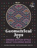 Geometrical Joys: Cross Stitch Style Adult Coloring Book - Color by Symbol (Alice Mills Craft on Paper)