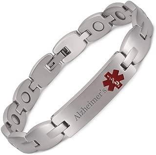 Medical Alert anneau noir en acier inoxydable d/'urgence le diabète 1 2 rappeler Bijoux