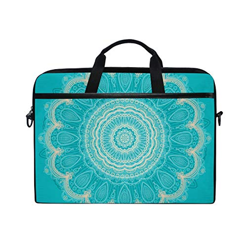 EZIOLY Ornamental Round Lace Laptop Shoulder Messenger Bag Case Sleeve for 13 Inch to 14 inch Laptop