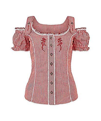 Bohmberg dames klederdrachtblouse geruit blouse in vele kleuren van 100% katoen Oktoberfest klederdracht-shirt blouses in maat 34-46