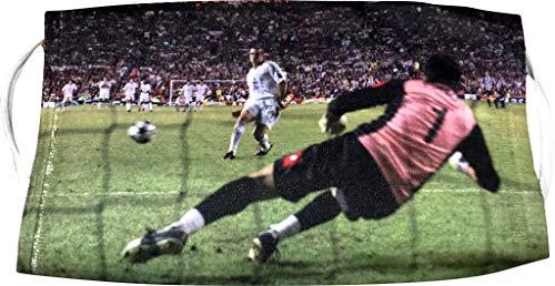 Maestri Fußballmaske Rigore Manchester 2003 A.C. Milan (SHEVA, Shevchenko, Buffon, Final, Champions Pokal)