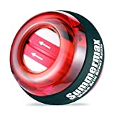 Summermax Auto-Star Wrist Power Gyroscopic Ball,Wrist Strengthener and Forearm Exerciser for Stronger Arm Fingers Wrist Bones and Muscle (Auto Red)