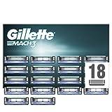 Gillette Mach3 Lames de Rasoir Homme, Pack de 18 Lames de Recharges [OFFICIEL]