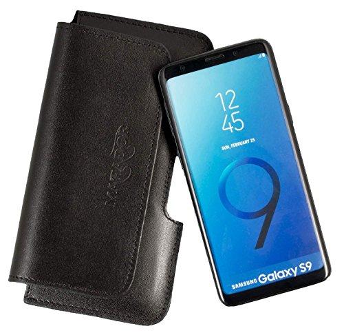 MATADOR Ledercase Lederhülle kompatibel mit Galaxy S9 Schwarz