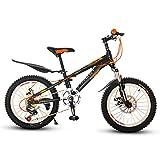 Fahrräder Kinder Mountainbike Junge Outdoor Fahrrad 6-7-10-12 Jahre Altes Kind Fahrrad Grundschüler, Mittelschüler, Fahrrad Geschwindigkeit Mountainbike (Color : Yellow, Size : 18inch)