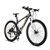 JXJ 29 Pulgadas Bicicleta Montaña Suspensión Completa 33 Velocidades Doble Freno Disco Bicicleta Bikes MTB para Hombre y Mujer Adecuada para el Ciclo Al Aire Libre