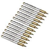 Fdit Set di Colori acrilici 12PCS modalità Impermeabile Colore Metallizzato Craftwork Pen...