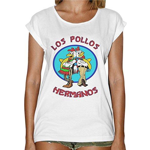 Camiseta de mujer Los Pollos Hermanos (Breaking Bad)-Blanca