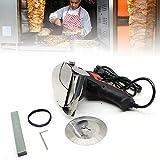 Kebab Machine - Cortador de carne manual, 80 W, cuchillo de giroscopio eléctrico, cuchillo de kebab, cuchillo de kebab, cuchillo de gyro, cuchillo de kebab, cuchillo de kebab, 3000 rpm