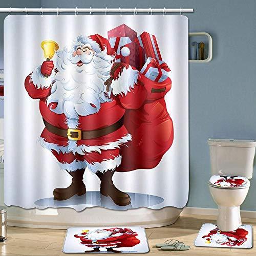 Hosdog Merry Christmas Shower Curtain Set, Xmas Shower...