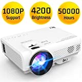 DR. J Professional Latest Upgrade 4200L Portable Video Projector 1080P Supported, Compatible
