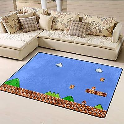 Home Bedroom Carpet,Super Mario Floor Carpet W47xL71 inch