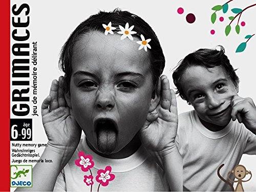 Djeco DJ05168/69 Gra karciana pamieciowa minki Grimaces, Multicolour